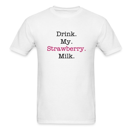 Mens Strawberry Milk - Men's T-Shirt