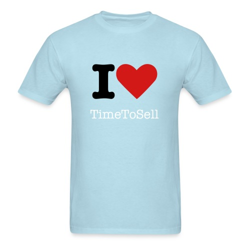 I Love TimeToSell - SkyBlue TShirt - Men's T-Shirt
