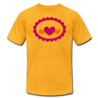 heart on a cameo badge T-Shirts