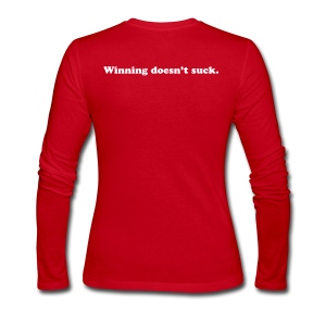 Winning doesn't suck. Long Sleeve. - Women's Long Sleeve Jersey T-Shirt