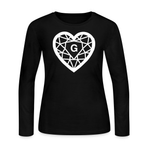 Groove Gemstone LS BLK Tee - Women's Long Sleeve Jersey T-Shirt
