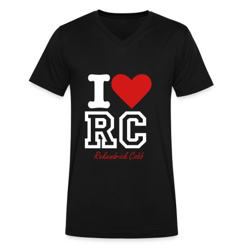 I LOVE RC - Men's V-Neck T-Shirt by Canvas