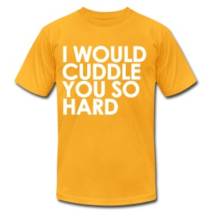 General - I Would Cuddle You So Hard (White) - Men's Fine Jersey T-Shirt