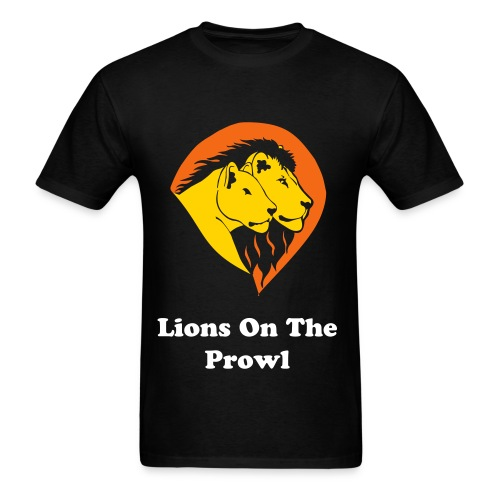 Lions On The Prowl - Men's T-Shirt