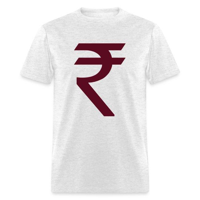 Dds Hot Cool Indian Rupee Symbol Mens T Shirt