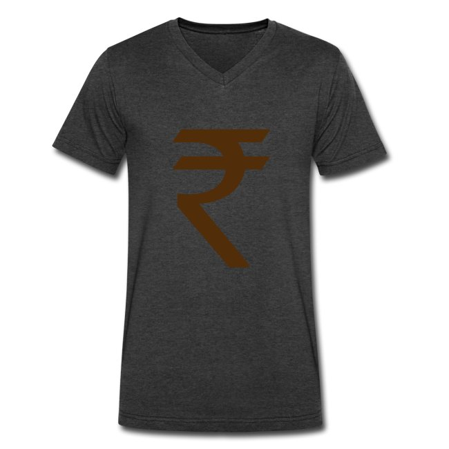 Dds Hot Cool Indian Rupee Symbol Mens V Neck T Shirt By Canvas