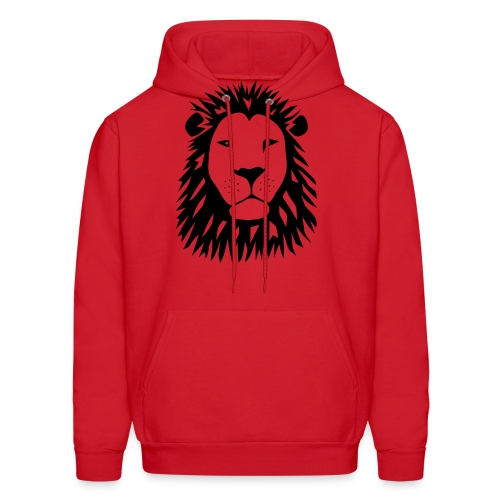 animal t-shirt lion tiger cat king animal kingdom africa predator simba strong hunter safari wild wildcat bobcat panther cougar - Men's Hoodie