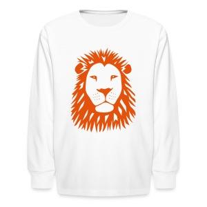 animal t-shirt lion tiger cat king animal kingdom africa predator simba strong hunter safari wild wildcat bobcat panther cougar - Kids' Long Sleeve T-Shirt