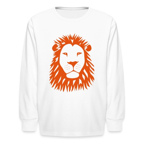 animal t-shirt lion tiger cat king animal kingdom africa predator simba strong hunter safari wild wildcat bobcat panther cougar - Kids' Long Sleeve T-Shirt