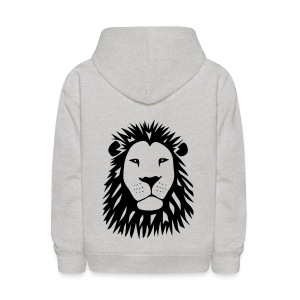 animal t-shirt lion tiger cat king animal kingdom africa predator simba strong hunter safari wild wildcat bobcat panther cougar - Kids' Hoodie