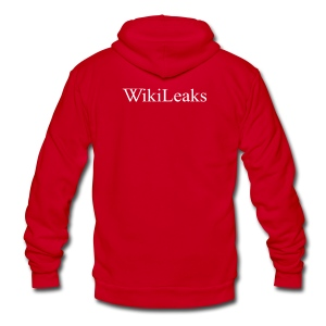 WikiLeaks - Unisex Fleece Zip Hoodie by American Apparel
