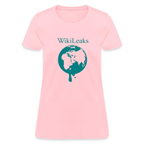 WikiLeaks - Dripping Globe - Women's T-Shirt