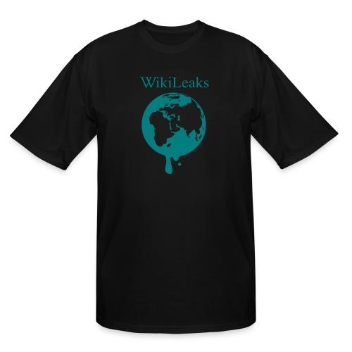 WikiLeaks - Dripping Globe - Men's Tall T-Shirt