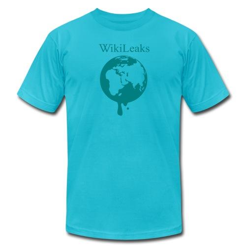 WikiLeaks - Dripping Globe - Men's Fine Jersey T-Shirt
