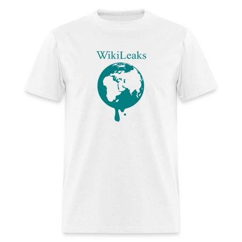 WikiLeaks - Dripping Globe - Men's T-Shirt