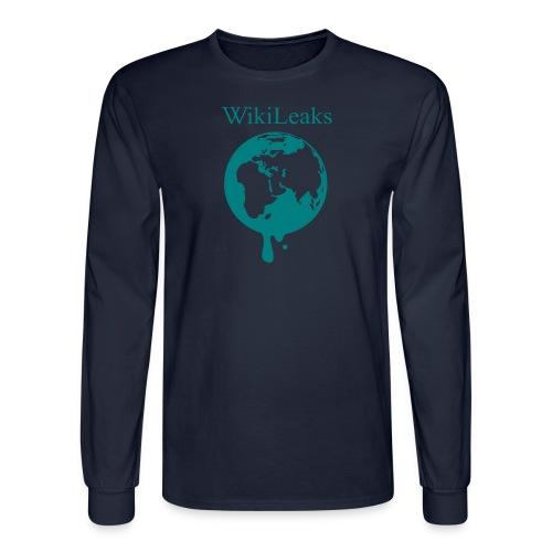 WikiLeaks - Dripping Globe - Men's Long Sleeve T-Shirt