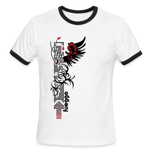 Digital Dot Grass - Men's Ringer T-Shirt