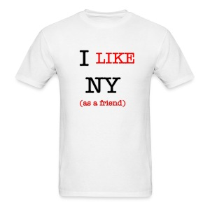 I Like NY (as a friend) - Men's T-Shirt