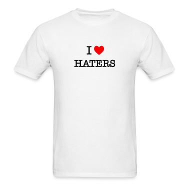 I Heart Haters - black T-Shirts