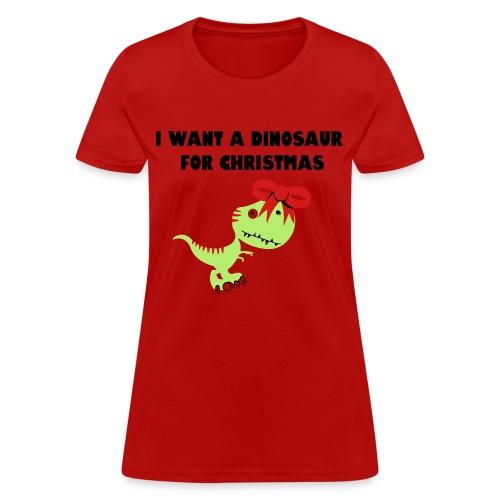 Christmas Dino - Women's T-Shirt
