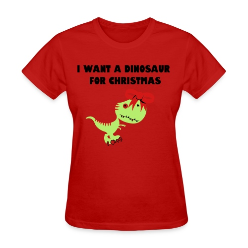 Christmas Dino - Women's T-Shirt
