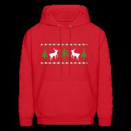 Hoodies ~ Men's Hoodie ~ Ugly Christmas Sweater Hoodie