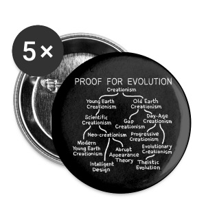 Evolution of Creationism - Large Buttons