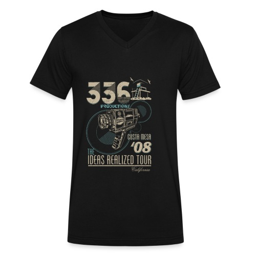 336 Tour Shirt - Blue - V Neck - Men's V-Neck T-Shirt by Canvas