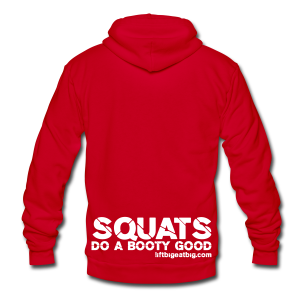 Squats do a booty good hoodie - Unisex Fleece Zip Hoodie by American Apparel