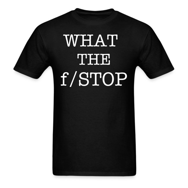 Men's What the f/stop