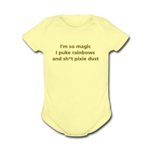 BABY: I'm so magic - Short Sleeve Baby Bodysuit