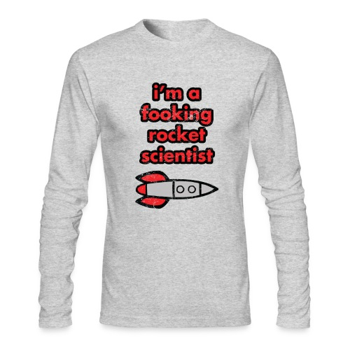 I'm A Fooking Rocket Scientist - Misfits | Robot Plunger - Men's Long Sleeve T-Shirt by Next Level