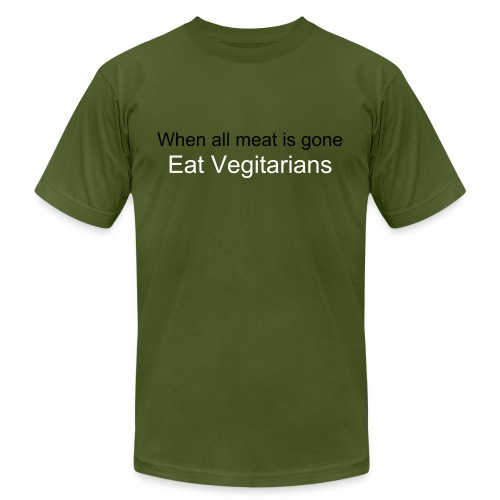 Eat Vegitarians - Men's Fine Jersey T-Shirt