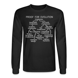 Evolution of Creationism - Men's Long Sleeve T-Shirt