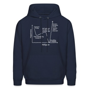 Happiness Versus Intelligence - Men's Hoodie