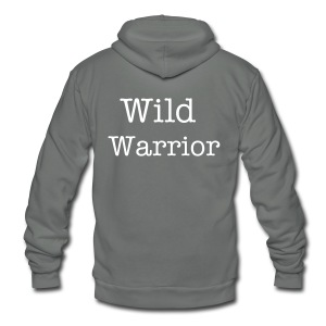 Men's Wild Warrior Zip Up Hoodie - Unisex Fleece Zip Hoodie by American Apparel