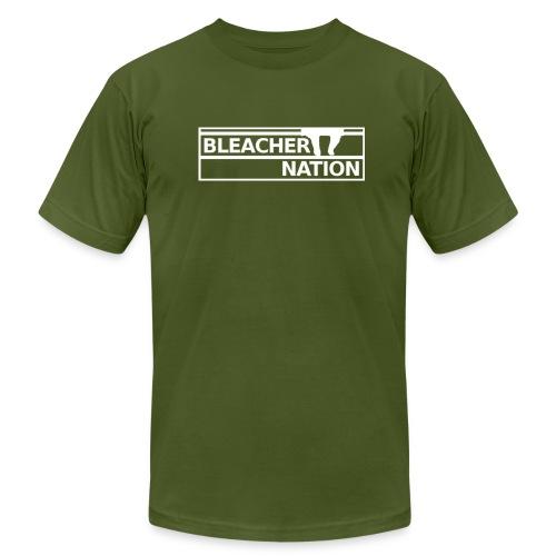 Bleacher Nation Logo American Apparel T-Shirt (Men's) - Men's Fine Jersey T-Shirt