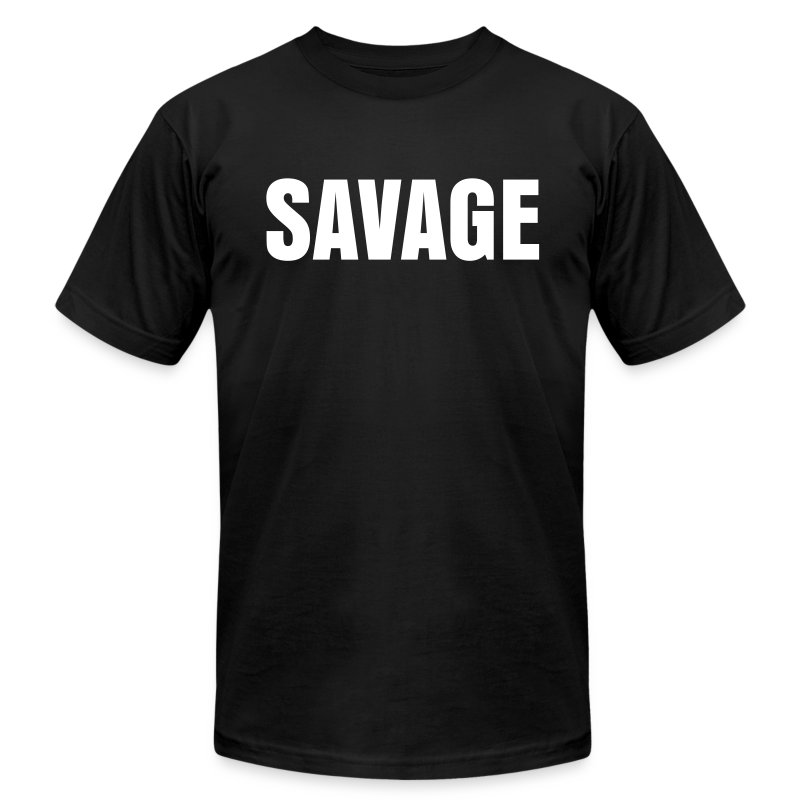 Mens Savage Squat Rack Tee - Men's T-Shirt by American Apparel