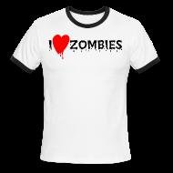T-Shirts ~ Men's Ringer T-Shirt ~ I Heart Zombies