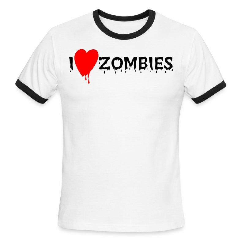 I Heart Zombies - Men's Ringer T-Shirt