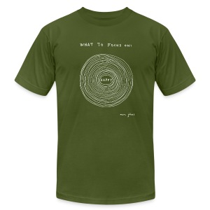 What to focus on - Dark - Men's - Men's T-Shirt by American Apparel
