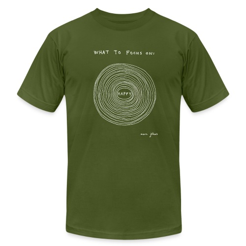 What to focus on - Dark - Men's - Men's Fine Jersey T-Shirt