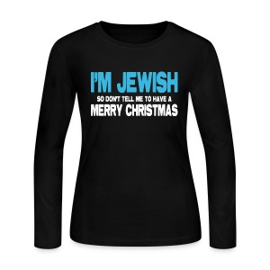 I'm Jewish (Women) - Women's Long Sleeve Jersey T-Shirt