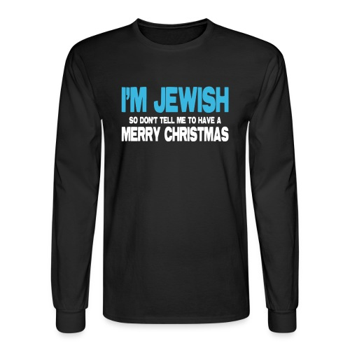 I'm Jewish (Men) - Men's Long Sleeve T-Shirt