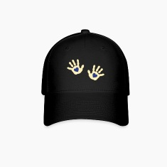 baby - hands - handprint - heart Caps