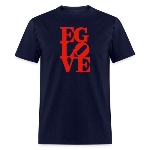 EG LOVE (all red) Men's Tee Navy - Men's T-Shirt