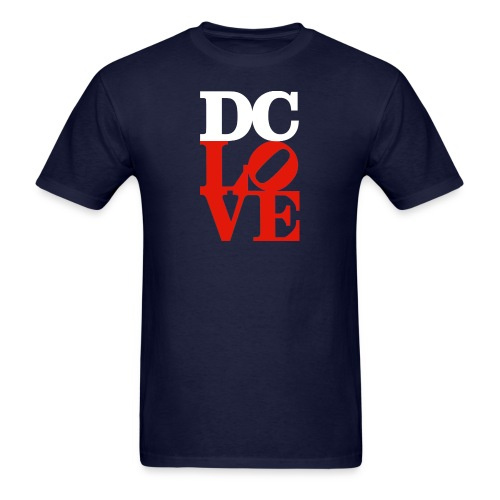 DC LOVE (white with red) Men's Tee Navy - Men's T-Shirt