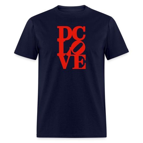 DC LOVE (all red) Men's Tee Navy - Men's T-Shirt