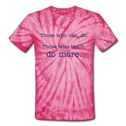 Unisex Tie Dye T-Shirt (Blue with Navy Type Font) - Unisex Tie Dye T-Shirt