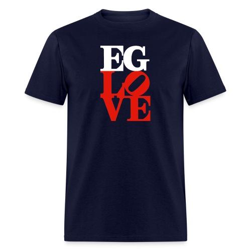 EG LOVE (white and red) Men's Tee Navy - Men's T-Shirt